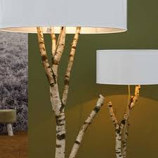 make these easy diy birch tree branch lamps istandarddesign