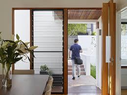 breezway louvre windows beside doors allow ventilation when doors are closed