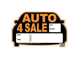 auto for sale sign hy ko products 22121 9 x 14 in auto sale sign newegg com