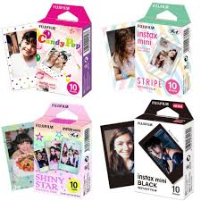 <b>Fujifilm Instax Mini</b> Film Mini 9 Photo Paper 10/20/30 Sheets Black ...