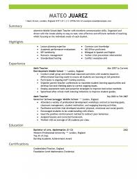 Resume For Teachers Job Sugarflesh