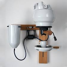 creative diy espresso machine with lever cleaner