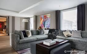 Interior Designers West London West London Penthouse Living Room Contemporary Interior