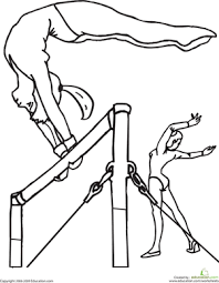 Small Picture Gymnastics Bars Coloring Pages pumpkin Pinterest Gymnastics