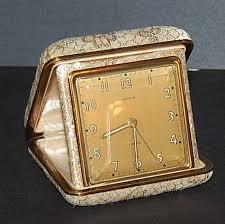 1950 60s semca travel alarm clock w brocade case kitsch couture ruby lane