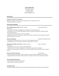 Elementary Education Entry Level Resume Samples Templates Vaultcom