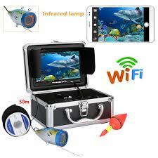 PDDHKK Wifi <b>Wireless</b> Visual Fishing <b>Finder</b> 7inch TFT 1000tvl ...