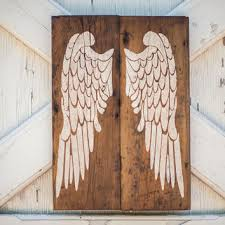 rustic angel wings on old shiplap rustic decor farmhouse decor