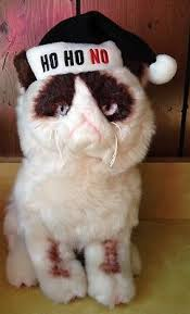 grumpy cat christmas hat. Brilliant Grumpy Gund Grumpy Cat Wearing Black Santa Hat Ho No Stuffed Animal Plush  Christmas In