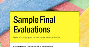 Sample Final Evaluations   Smore Newsletters For Education