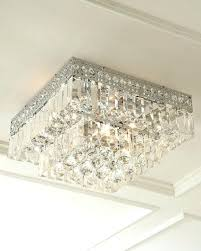 crystal flush mount chandelier crystal chrome flush mount chandelier