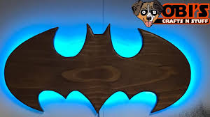 American greetings batman wall decorations. How To Make A Wooden Batman Wall Lamp Youtube