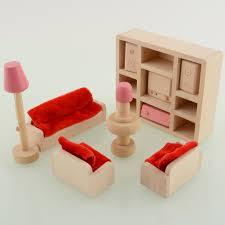 Living Room Set With Free Tv Aliexpresscom Buy Wooden Doll Livingroom Furniture Sofa Tv