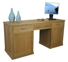 hidden desk furniture. exellent furniture mobel oak large hidden office twin pedestal desk inside furniture p