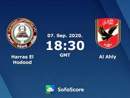 Harras El Hodood vs Al Ahly live score, H2H and lineups