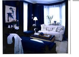 navy blue curtain living room white sofa decor