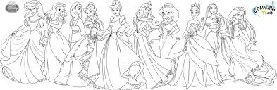 Vibrant Design Coloring Pages Of Princesses In Disney Disney ...