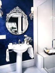 blue bathtub interior black ceramic tiles cover black glossy wooden bench free standing white bathtub clear blue bathtub