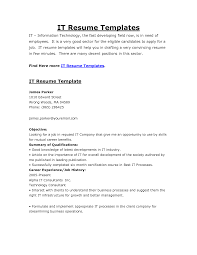 Resume Templates For It Resume Template It Amazing It Resume Examples Livecareer Client 9