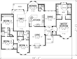 great 40 house plans 4 bedrooms one floor 4 be 7580