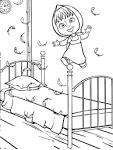Картинка кровати для раскраски