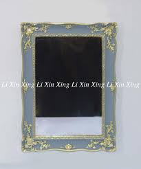 china gray hand painting gold wall mirror set scroll work framed wall mirror supplier