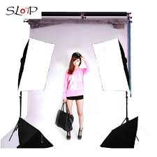 lighting kit tetralogy lamp softbox lights up photography light cotans set clothes portrait photography equipment