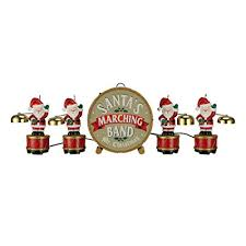 Animated Symphony Of Bells Musical Tabletop Decoration Stunning Amazon Mr Christmas Santa's Marching Band Musical Figurines