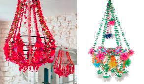paper flower chandelier or pajaki