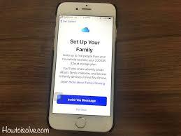 17 setup icloud storage family sharing on iphone