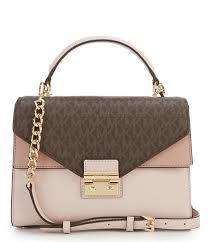 MICHAEL Michael Kors Sloan Colorblocked Top-Handle Chain Satchel