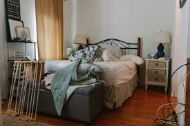 before jackie clair makes over this bedroom in a new york city studio apartment