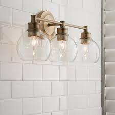 Glass Vanity Light Volta Glass Vanity Light 3 Light In 2019 Bathroom Light
