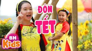 Đón Tết ♫ Bé Khai Xuân - Minh Anh ♫ Nhạc Tết Thiếu Nhi 2020 - Tuyển tập nhạc  thiếu nhi hay. - #1 Xem lời bài hát