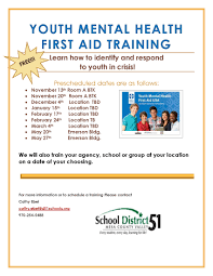 news parent 11 5 15 youth mental health first aid training flyer jpg