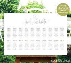 Poster Template Download Wedding Seating Chart Poster Template Excel Plan Free Download For