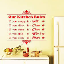 on wall art kitchen rules with our kitchen rules wall sticker