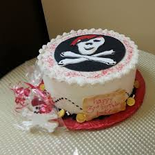 Pirate Themed Birthday Cake And Favors Today Kims Cottage Confections