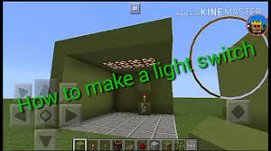 Minecraft How To Make Light How To Make Light Switch In Minecraft Pocket Edition Youtube