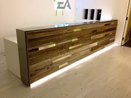 office furniture reception desks large receptionist desk. reclaimed wood reception desk estudio pinterest desks and woods office furniture large receptionist