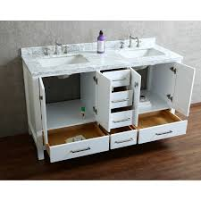 White Double Bathroom Vanities Solid Wood Bathroom Vanity Bathroom Vanities