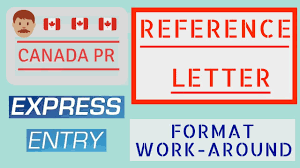 Reference Letter For Job Experiences Canada Expess Entry 2018