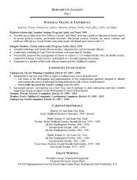 Early Childhood Resume Example - Dogging #1D3274E90Ab2