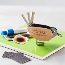 personalised bicycle tool and puncture repair kit gifts for him