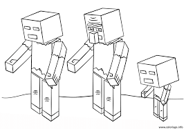 Coloriage Minecraft Zombies Dessin