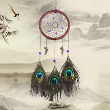 Are Dream Catchers Good Or Bad American Indian Style Purple Bead Dream Catcher with Peacock 12