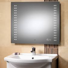 bathroom mirrors with lights. Genesis Discovery Mirror 700 X 600, LED Lights \u0026 Clock - Mirrors | TDL Online Bathroom With
