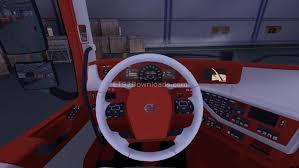 volvo trucks interior 2013. download redwhite interior for volvo 2013 trucks