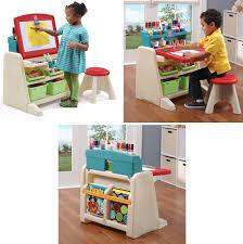 toddler desk and easel step 2 flip doodle deskeasel big toy express kids art with storage