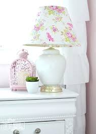 blush pink lamp shade pink bedroom lamp a shabby chic glam girls bedroom design idea in